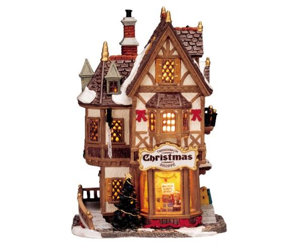 Lemax 35845 - TANNENBAUM CHRISTMAS SHOPPE , B/O LED Weihnachtsdorf Winterdorf