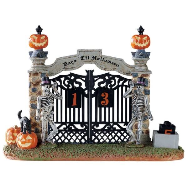 Lemax 83348 - GATEWAY HALLOWEEN COUNTDOWN - Halloween Spooky Town