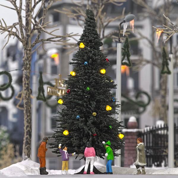 Busch H0 5413 - Beleuchteter Weihnachtsbaum ohne Schnee