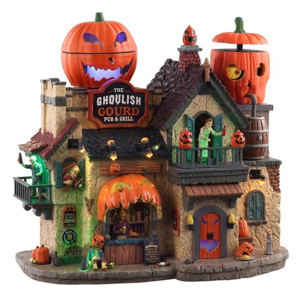 Lemax Spooky Town 05602 - THE GHOULISH GOURD PUB & GRILL Halloween Winterdorf Modellbau