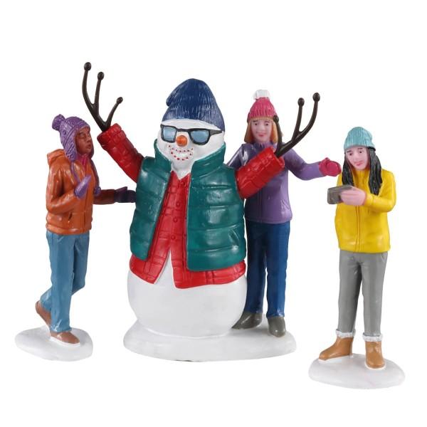 Lemax 02940 - SNOWMAN SELFIE, SET OF 3