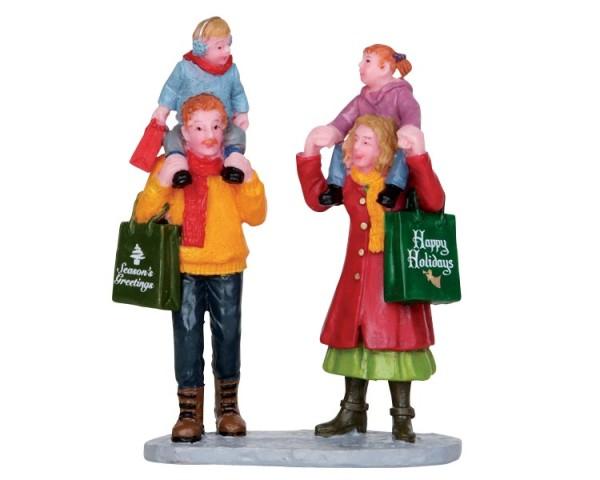Lemax 22022 - FAMILY CHRISTMAS SHOPPING Weihnachtsdorf Winterdorf