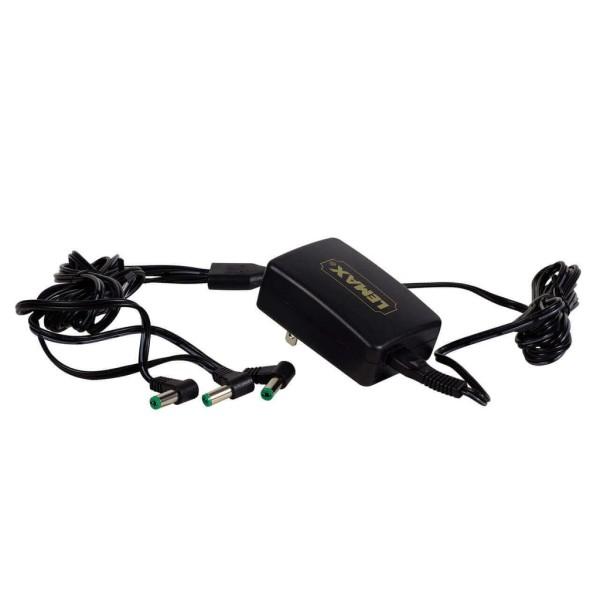 Lemax 94567 - POWER ADAPTOR, 4.5V, BLACK, 3-OUTPUT, Fixed Plug GS Neu