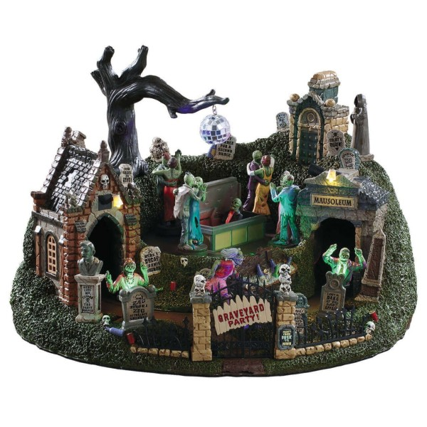 Lemax 94488 - GRAVEYARD PARTY - Spooky Town Halloween Neu