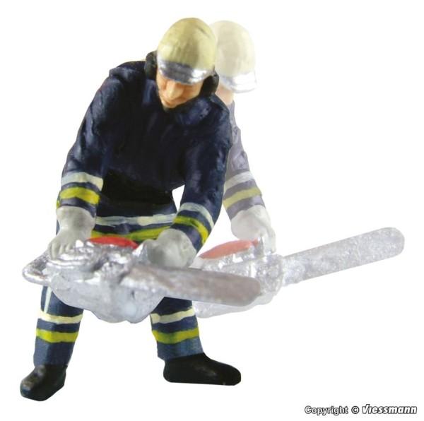 Viessmann H0 1541 - Feuerwehrmann m. Kettensäge bewegt - Neu