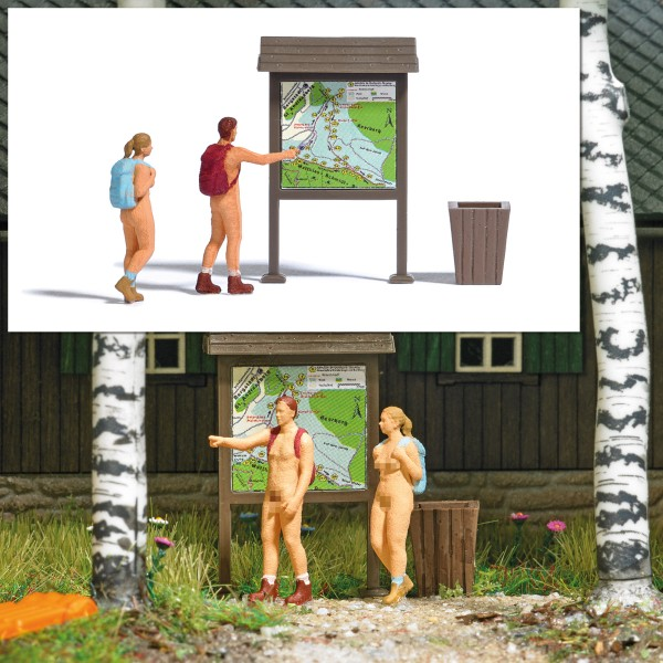 Busch H0 7947 - Action-Set: Nacktwanderer - Neu