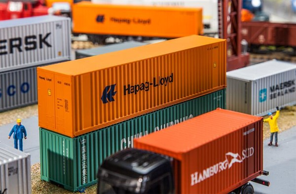Faller H0 180841 - 40'' Hi-Cube Container Hapag Lloyd - Neu