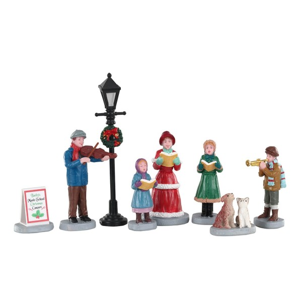 Lemax 02949 - BAILY''S MUSIC SCHOOL CAROLERS, SET OF 8