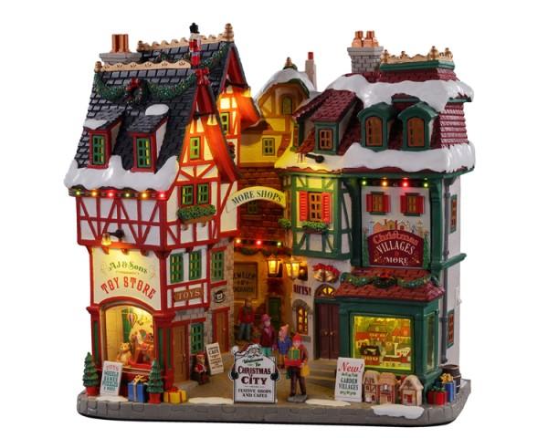 Lemax 15739 - CHRISTMAS CITY, LED, Winterdorf, Weihnachtsdorf, Modellbau Neu